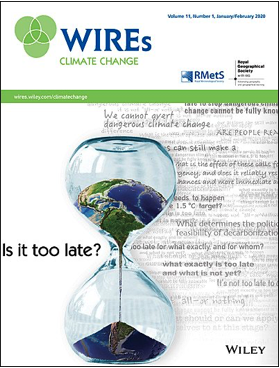 Anna Davies and Stephan Hugel publish in WIREs Climate Change